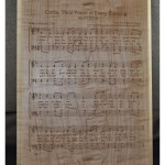 Music sheet plaque