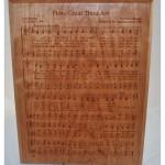 hymn plaque