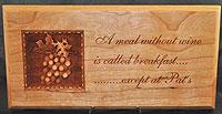 Pat's 3D Wine Plaque