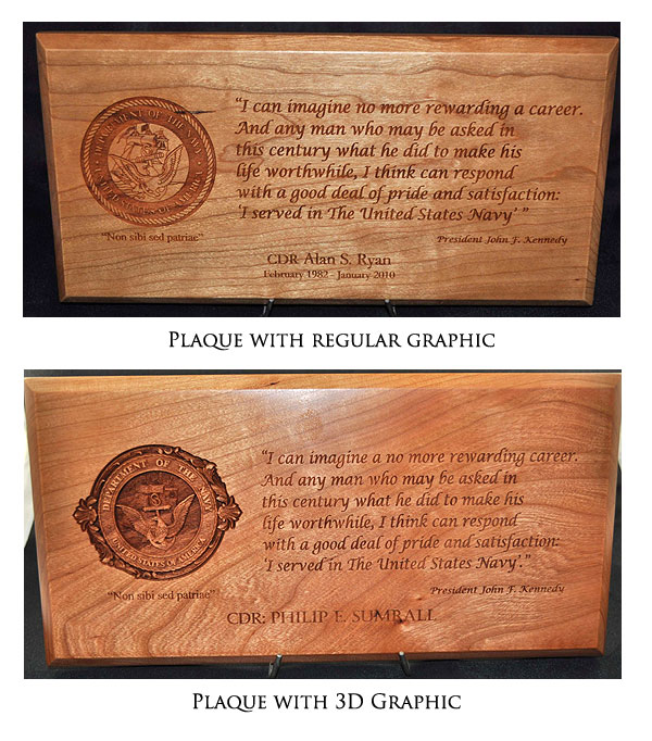 3D Plaque Graphics for Your Custom Plaque
