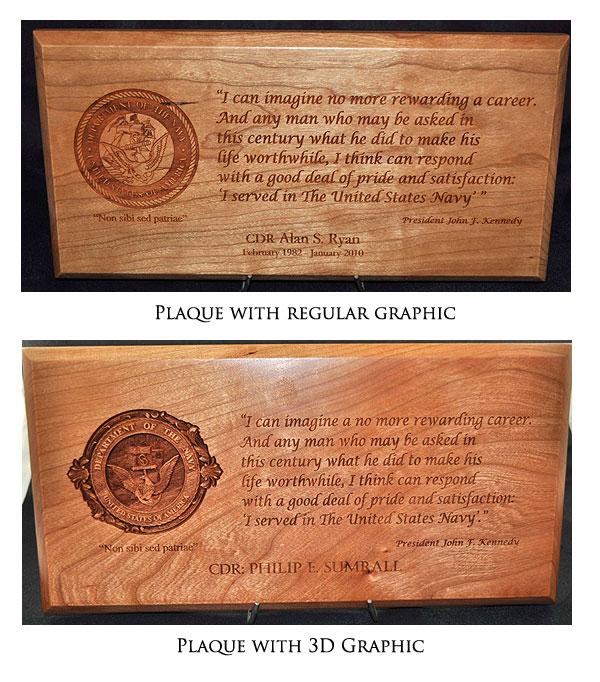 3D Plaque Graphics for Your Custom Plaque