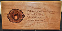 JFK Quote 3D Plaque