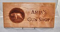 Ampa's Gun Shop 3D Plaque