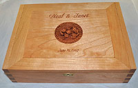 Cherry Blossom Personalized Wood Box