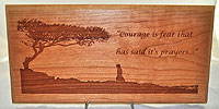 Courage Plaque