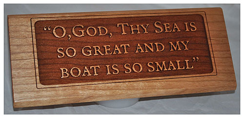 Custom Wood Desk Plaques