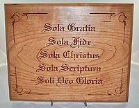 Five Solas Plaque