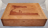 Flight Personalized Wood Box