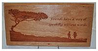 Friend Speak Plaque