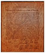 Declaration of Independence Plaque