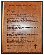 Prayer at the End of the Day Plaque