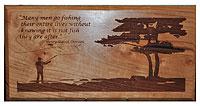 Thoreau Fishing Plaque