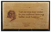 Mother Teresa Plaque