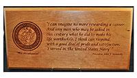 Navy JFK Plaque
