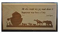 Noah's Ark Plaque