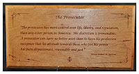 Prosecutor Plaque