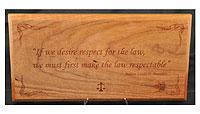 Justice Brandeis Plaque