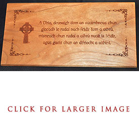 Gaelic Serenity Desk Plaque