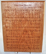 How Great Thou Art Plaque