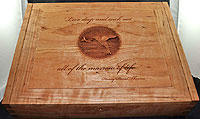 Hummingbird Personalized Wood Box