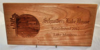 Lake House 3D Plaque