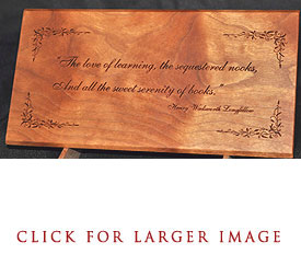 Longfellow Quote Desk Plaque