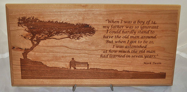 wood plaques fishers laser carvers
