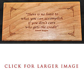 Reagan Quote Desk Plaque