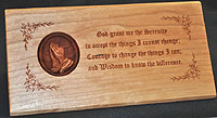 Serenity Pray 3D Plaque
