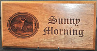 Sunny Morning 3D Plaque