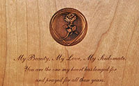 Wedding Vows 3D Plaque