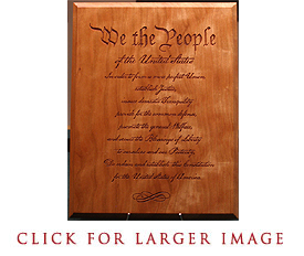 We the People Quote Plaque